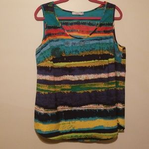 Dalia colorful 1X camisole sleeveless top shirt
